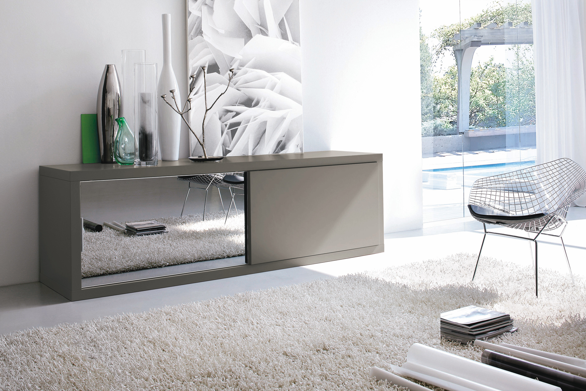Credenza ante scorrevoli for Atlante compass